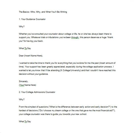 Thank You Letter For Recommendation Thank You Letter For Recommendation 9 Free Word Excel Pdf Format Free Premium