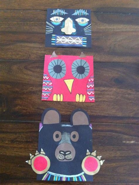 totem pole craft project best 25 totem pole ideas on totem poles