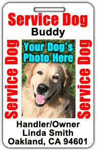 service dog id tags custom service dog badges