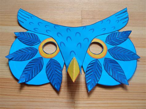 Paper Craft Mask - owl mask printable mask paper craft kit by