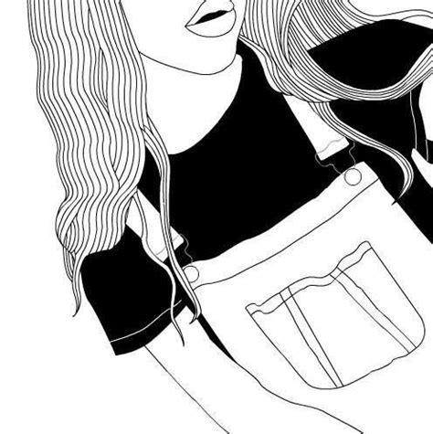 black and white drawing fashion grunge b w