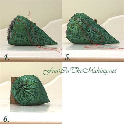 how to make fabric trees sewing in the