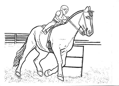 coloring pages of horses barrel racing free horse coloring pages for download