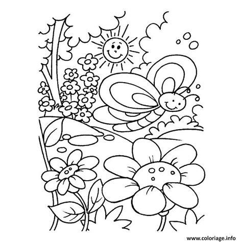 Coloriage Printemps Fleurs Dessin Coloriage Magique Spiderman L