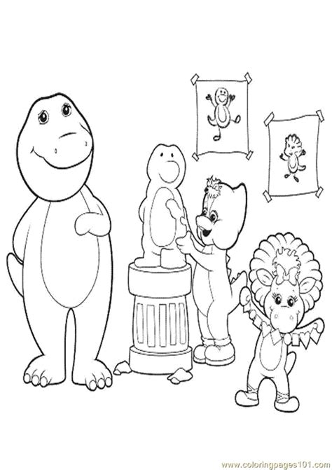 barney and friends coloring pages az coloring pages