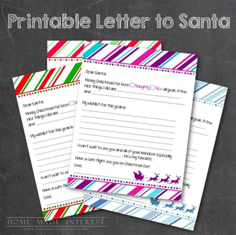 send a letter to santa free printable letter to santa home made interest 1618