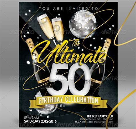 free templates for awesome 50th birthday cards invitation template 43 free printable word pdf psd
