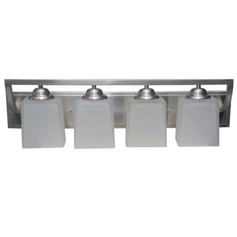 hton bay 4 light brushed nickel wall vanity light cbx1394 2 sc 1 the home depot hton bay canton 4 light brushed nickel vanity retails 110 deal ebay