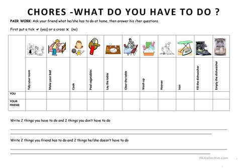 what do i do if i have a bench warrant chores 6 what do you have to do worksheet free esl