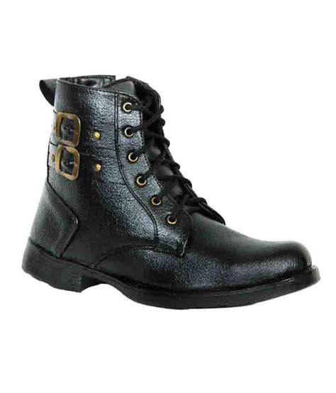 boots for india elvace black high ankle s boots price in india buy