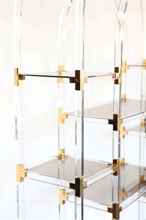 Etagere 1 M by Exceptional Lucite Etagere At 1stdibs