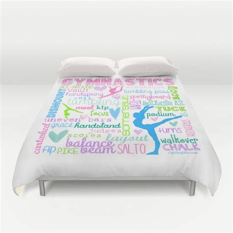 gymnastics bedding sets gymnastics typography duvet cover gymnastics it s my