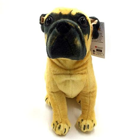 tale pugs puck the pug 15 inch large stuffed animal plush by tiger tale toys