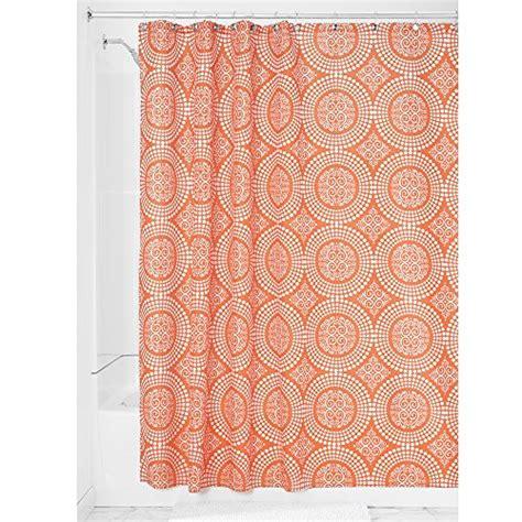 orange shower curtains fabric interdesign medallion fabric shower curtain 183 x 183 cm