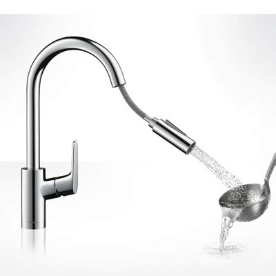 Hansgrohe Faucets Parts Hansgrohe Focus Single Lever Kitchen Pull Out Spray