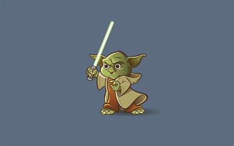 cartoon yoda wallpaper yoda art wallpaper 9679 1920x1200 px hdwallsource com