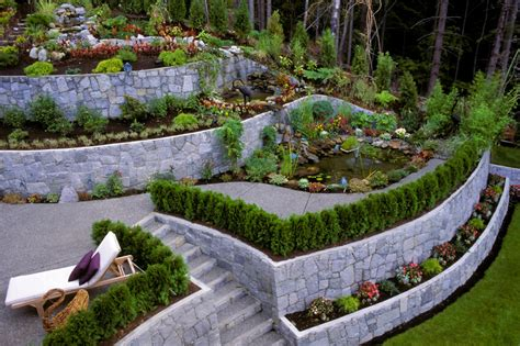 terraced backyards 27 backyard retaining wall ideas and terraced gardens