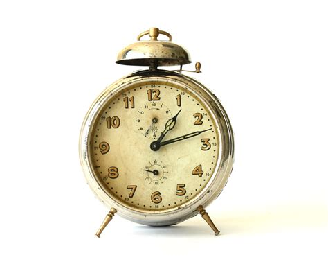 antique german alarm clock junghans