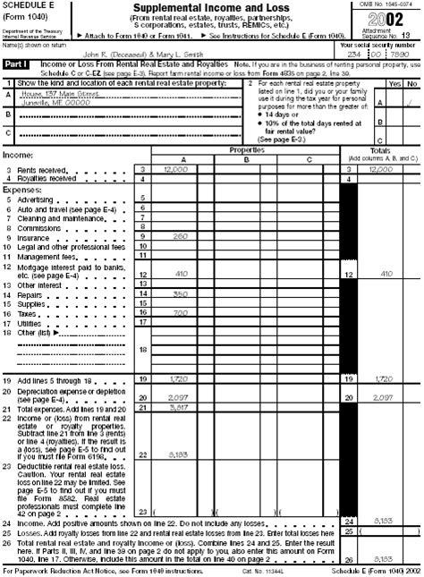 schedule se form 1040 section b part ii publication 559 survivors executors and administrators
