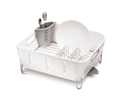 in sink dish rack stainless steel simplehuman compact stainless steel dish rack sink drainer