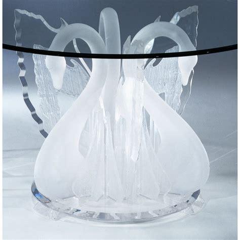 acrylic legend swan dinette dining table base wayfair
