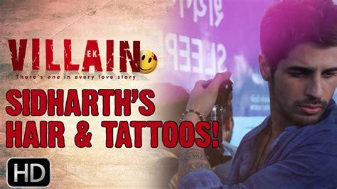 neck tattoo in ek villain ek villain secret behind sidharth s hair tattoos youtube