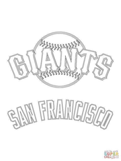 san francisco giants logo coloring page free printable