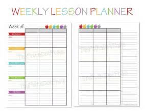free daily lesson plan template printable the polka dot posie new homeschool planners