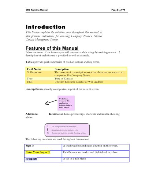 trainer manual template sle manual