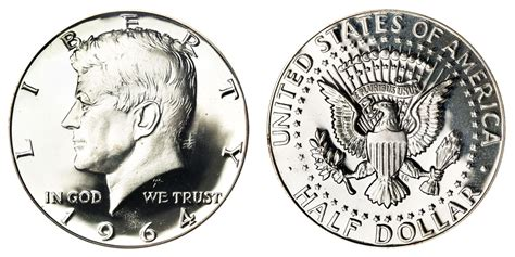 1964 kennedy half dollars 90 silver composition value