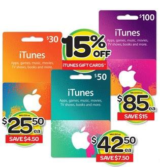 Woolworths Gift Cards 10 Off - expired 15 off 30 50 and 100 itunes gift cards at woolworths gift cards on sale