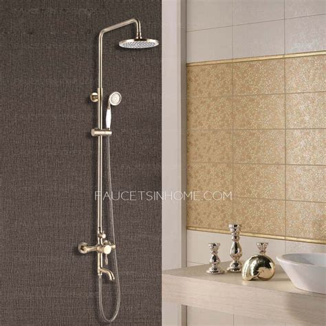 Bathroom Showers Fixtures Antique Bronze Bathroom Exposed Top And Shower Faucets