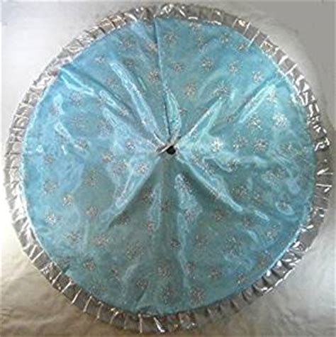 amazon com christmas tree skirt 57 quot light teal blue with