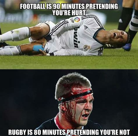 Football Meme - til during a game of rugby shelford had his scrotum torn