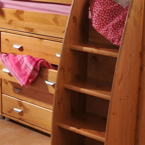 stompa rondo 5 mid sleeper cabin bed with desk and drawers