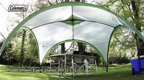pavillon 4 x 5 meter coleman 174 event shelter deluxe 15x15