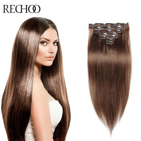 clip in hair extensions quality human hair wefts buy aliexpress com buy clip in human hair extensions brown
