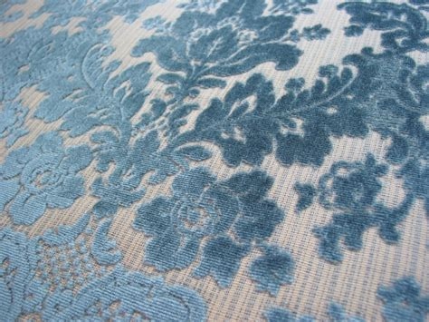 vintage velvet upholstery fabric vintage cut velvet upholstery fabric blue damask