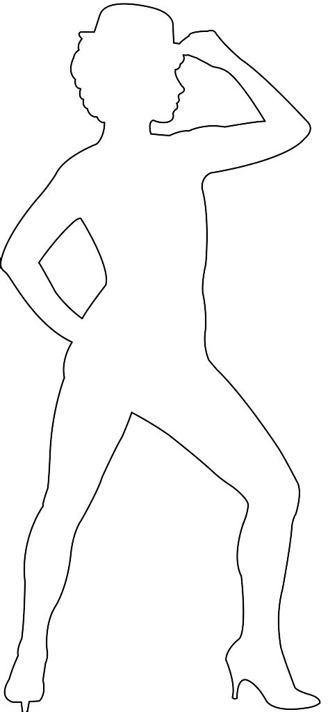 Dancer Outline by Jazz Dancer Silhouette Free Vector Silhouettes