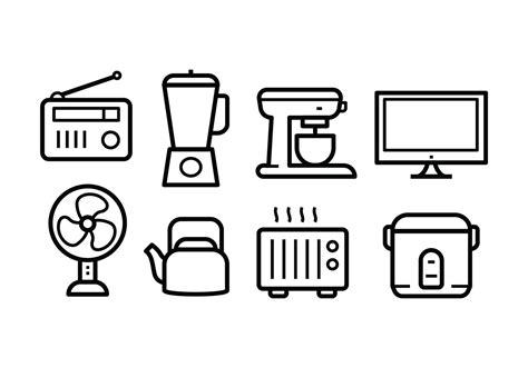 vintage home appliances icons stock vector illustration free home appliances icon set download free vector art
