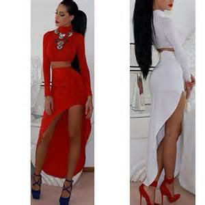 Piece set bodycon bandage dress high waisted club party dresses