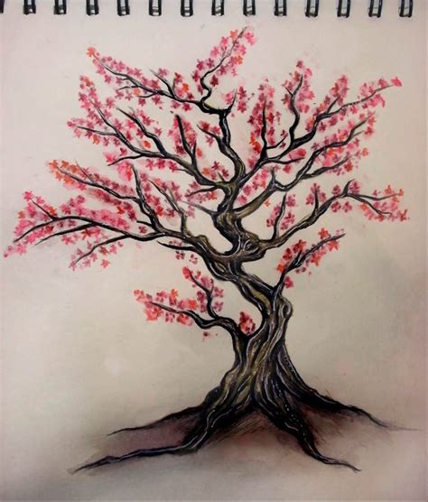 japanese tree tattoo cherry tree illustration graphic design for the soul