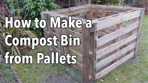 how to build a building how to make a compost bin from pallets youtube