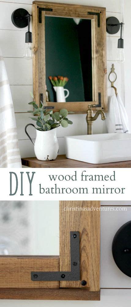 Bathroom Mirror Diy by Best 20 Frame Bathroom Mirrors Ideas On