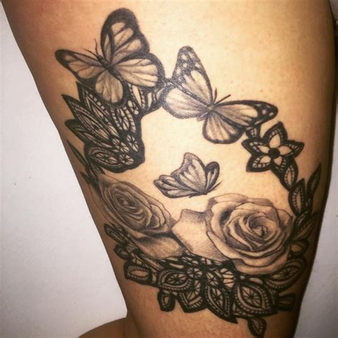 roses and butterfly tattoo 28 awesome butterfly tattoos with flowers that nobody will