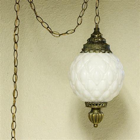 vintage hanging swag ls vintage hanging light hanging l milk glass globe