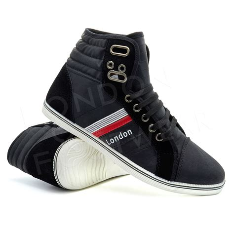 mens hi top sneakers mens designer hi high tops ankle trainers boots flat