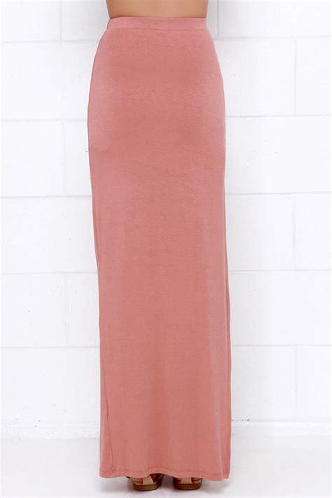 chic dusty skirt maxi skirt jersey knit skirt