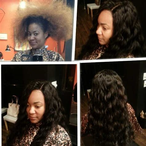 before and after sew in pics before and after full sew in weave with silk base closure