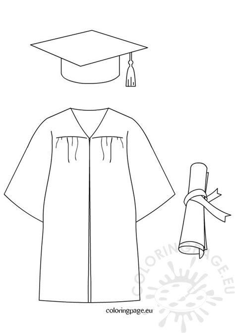 Graduation Gown Coloring Pages Coloring Pages Graduation Coloring Pages